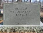 Australian Sport Headstone